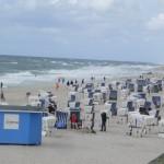 Strand und Starkwind